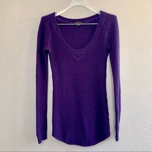 Theory Sweater Pullover Scoop Neck Ribbed